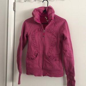 Pink sparkle Lululemon jacket